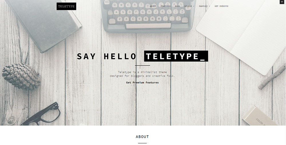 Sixty Eight Ave - teletype wordpress theme