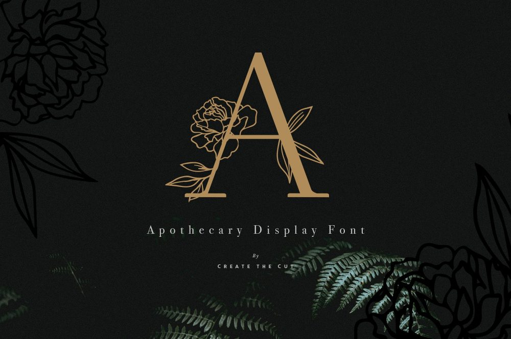 Sixty Eight Ave - 100 Stylish Fonts - Apothecary Display