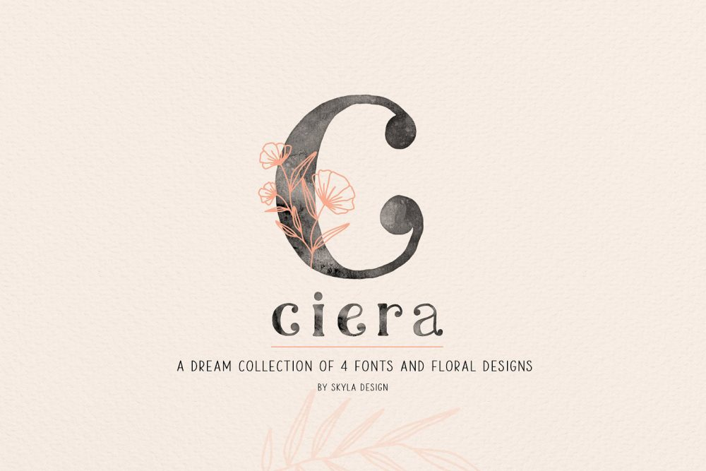 Sixty Eight Ave - 100 Stylish Fonts - Ciera
