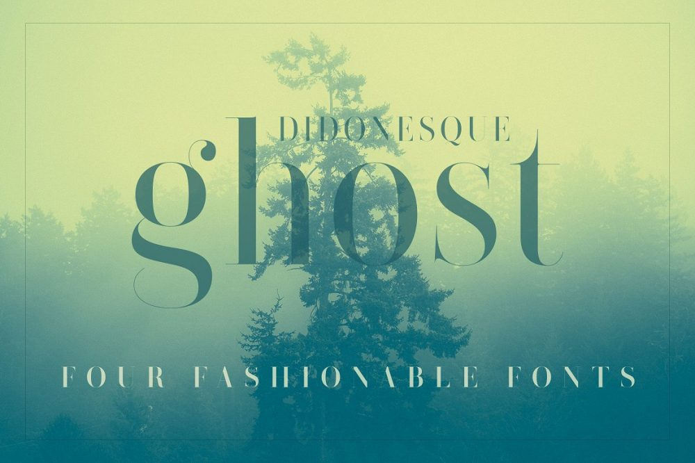 Sixty Eight Ave - 100 Stylish Fonts - Didonesque Ghost