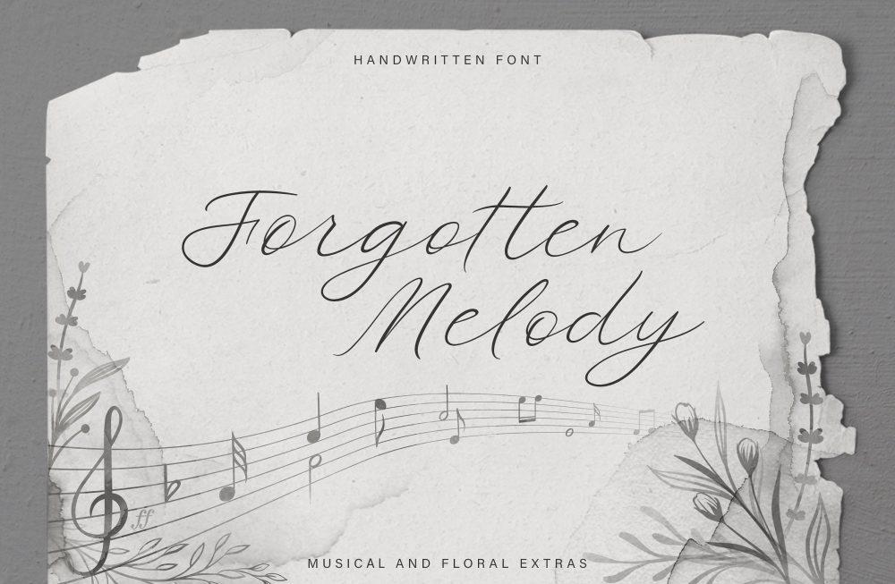 Sixty Eight Ave - 100 Stylish Fonts - Forgotten Melody