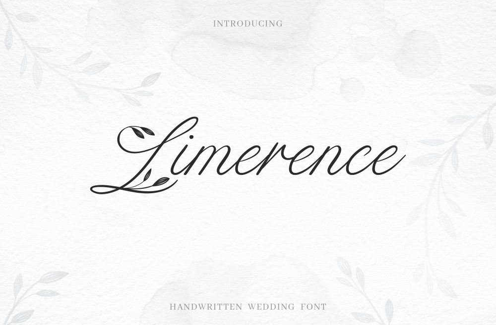 Sixty Eight Ave - 100 Stylish Fonts - Limerence