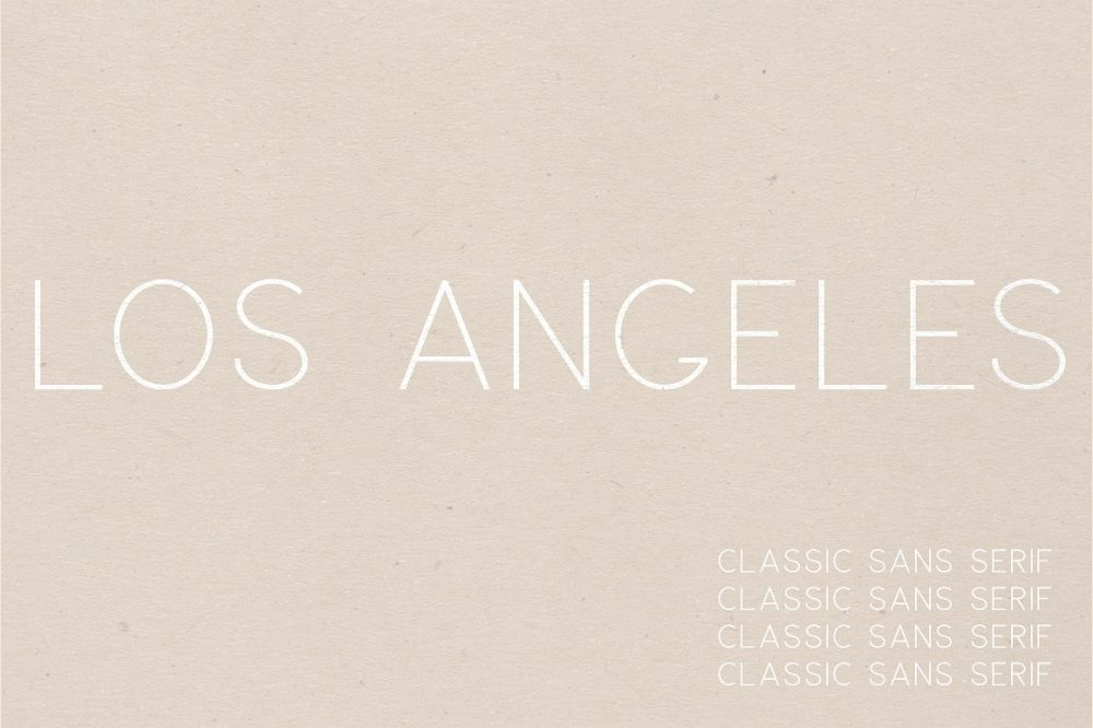Sixty Eight Ave - 100 Stylish Fonts - Los Angeles
