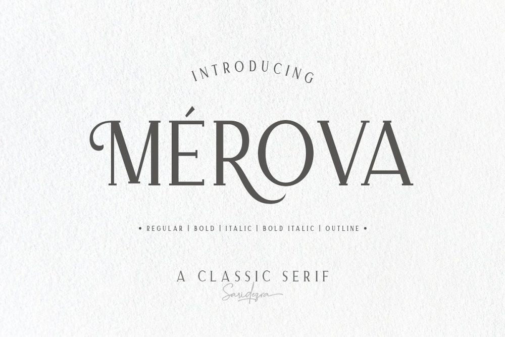 Sixty Eight Ave - 100 Stylish Fonts - Merova