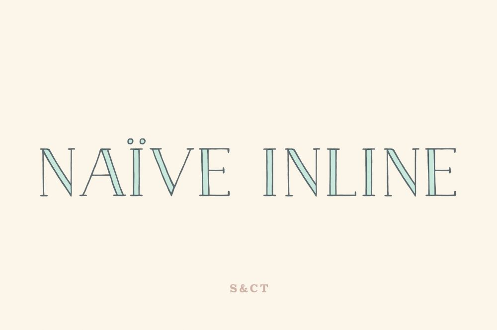 Sixty Eight Ave - 100 Stylish Fonts - Naive Inline