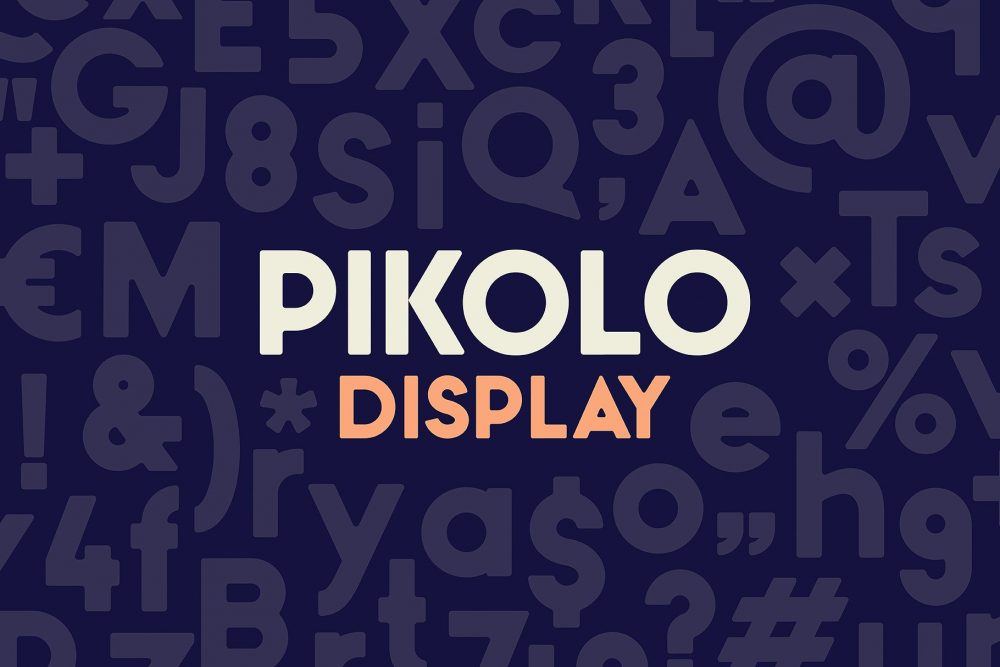 Sixty Eight Ave - 100 Stylish Fonts - Pikolo Display