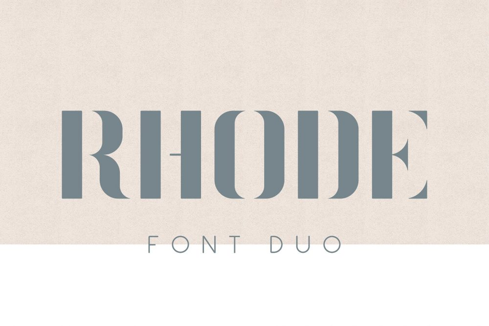 Sixty Eight Ave - 100 Stylish Fonts - Rhode Font Duo