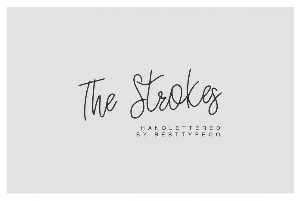 Sixty Eight Ave - 100 Stylish Fonts - The Strokes