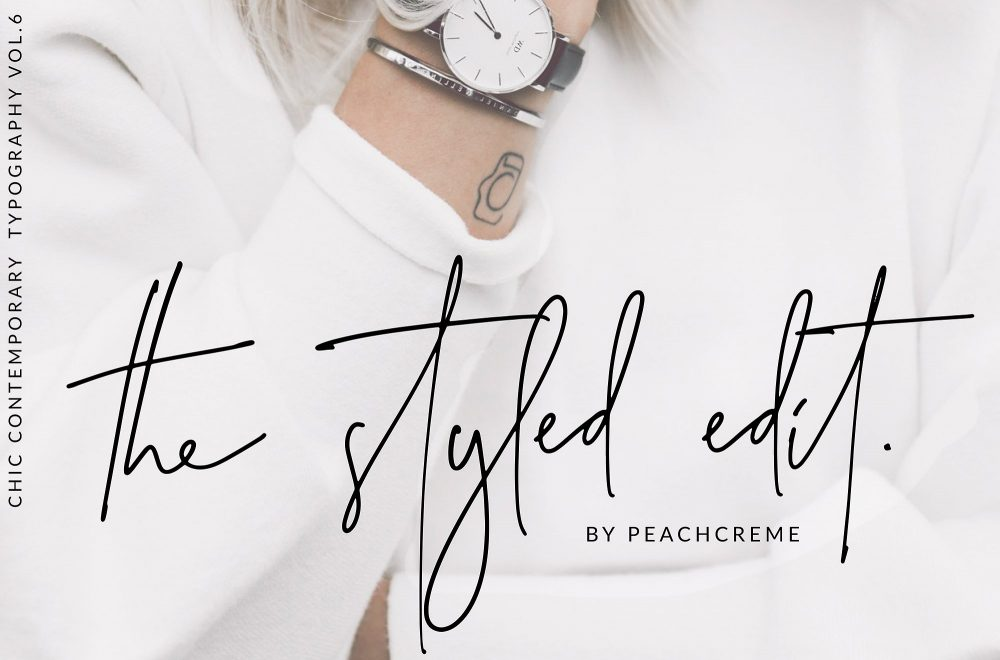Sixty Eight Ave - 100 Stylish Fonts - The Styled Edit