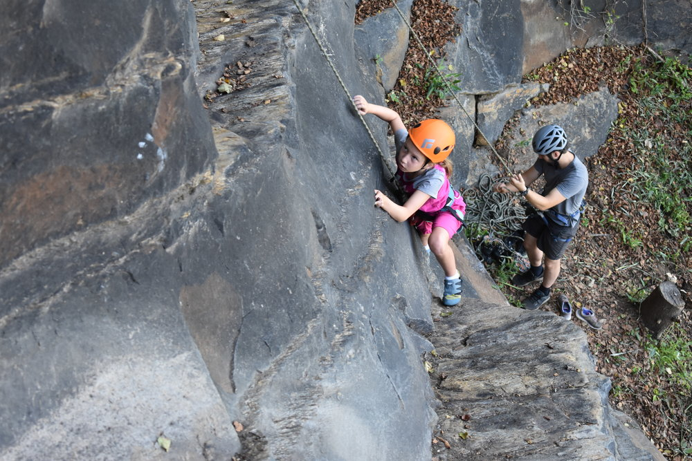 First Time Outside - $25/2-Hours- 10min driveLeave the belaying to us, for climbers of all ages (8yrs and up) to get outdoor experience at our local crag.All ages (8yrs and up) and experience levels welcome -- equipment will be provided