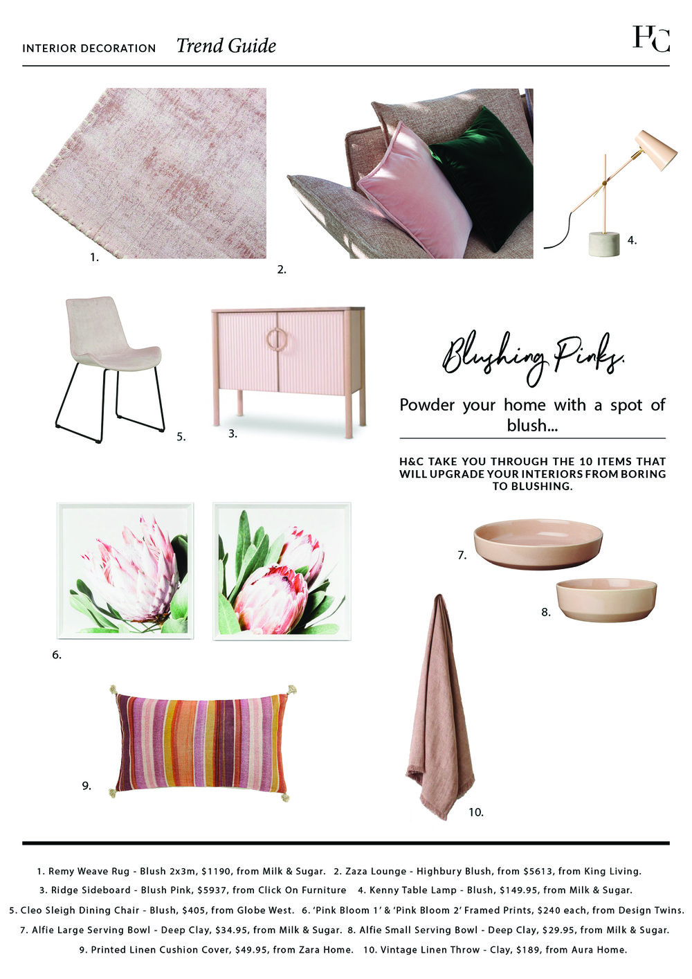 Trend Guide: Blushing Pinks, House & Court, Interior Design, Sydney