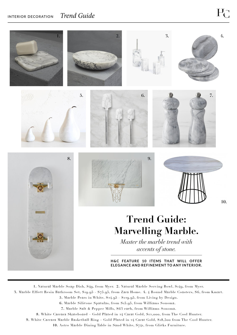 Trend Guide: Marvelling Marble, by House & Court, House & Court, Interior Design, Sydney