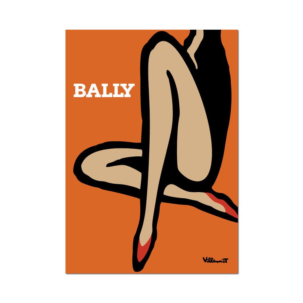 'Legs', 1967 by Bernard Villemot | Image: Pinterest