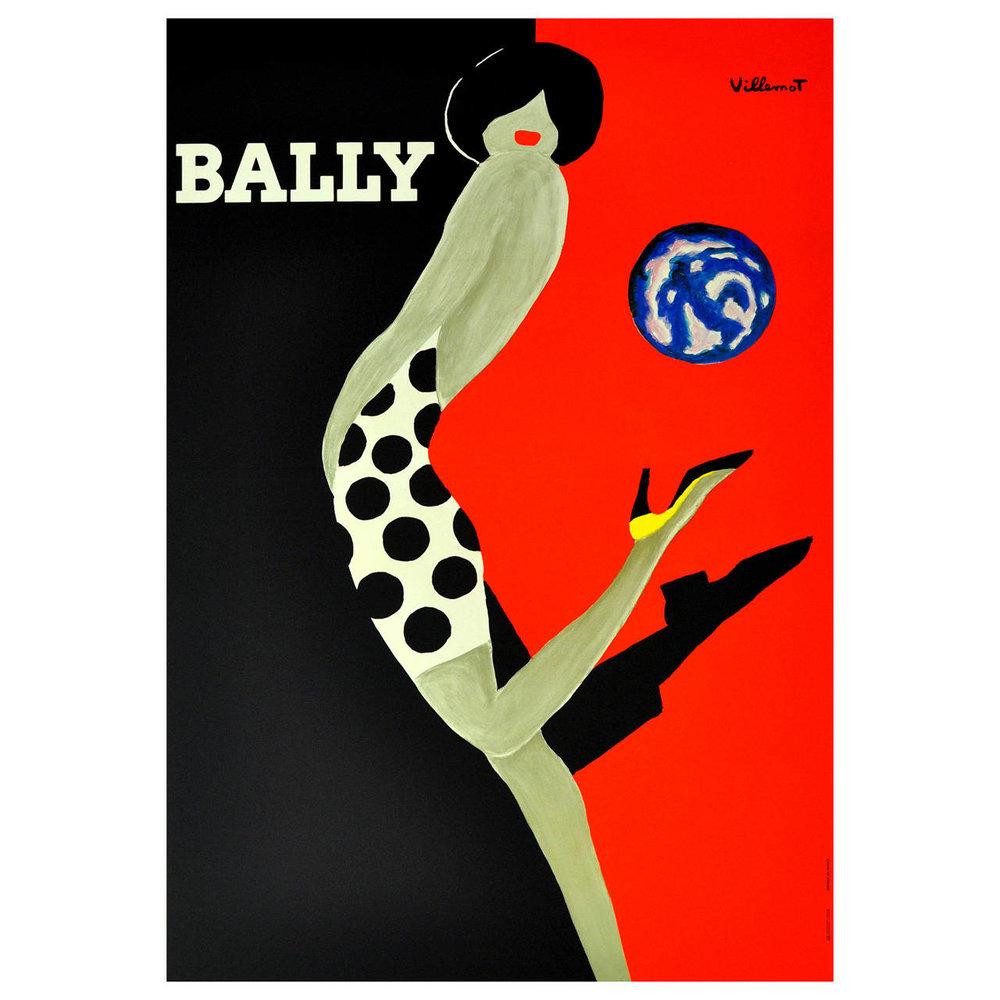 'Bally Balloon', 1989 by Bernard Villemot | Image: Pinterest