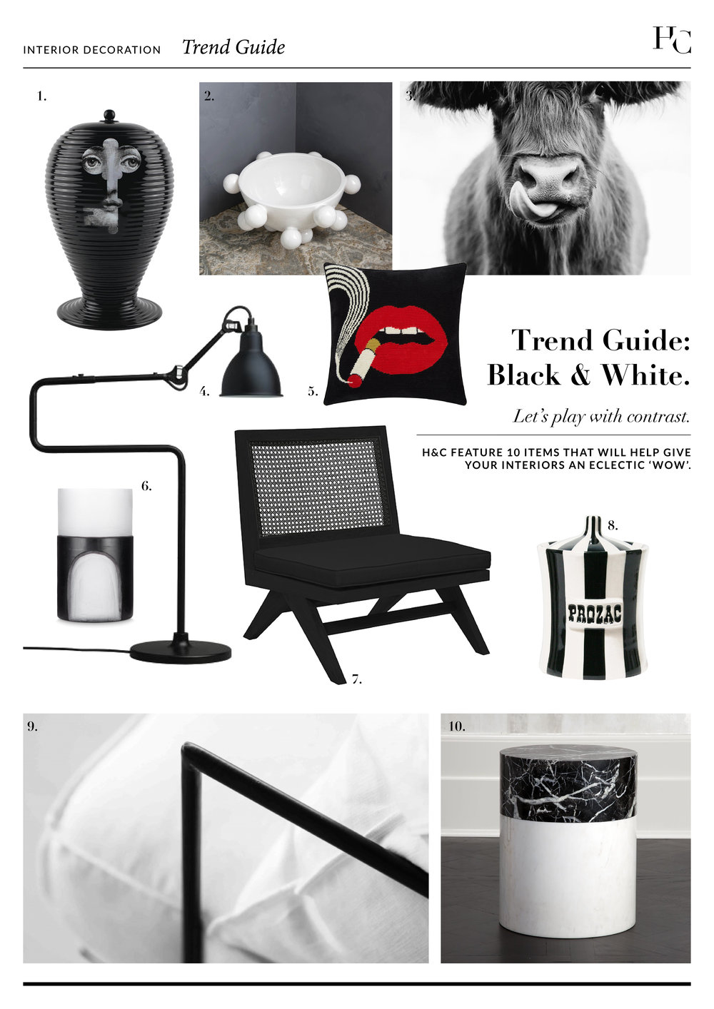 Trend Guide: Black & White; House & Court, Interior Design Sydney