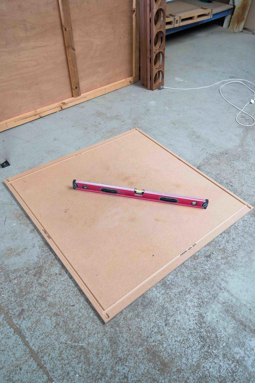 Step 1: Lay Bottom Piece on Relatively Level Ground