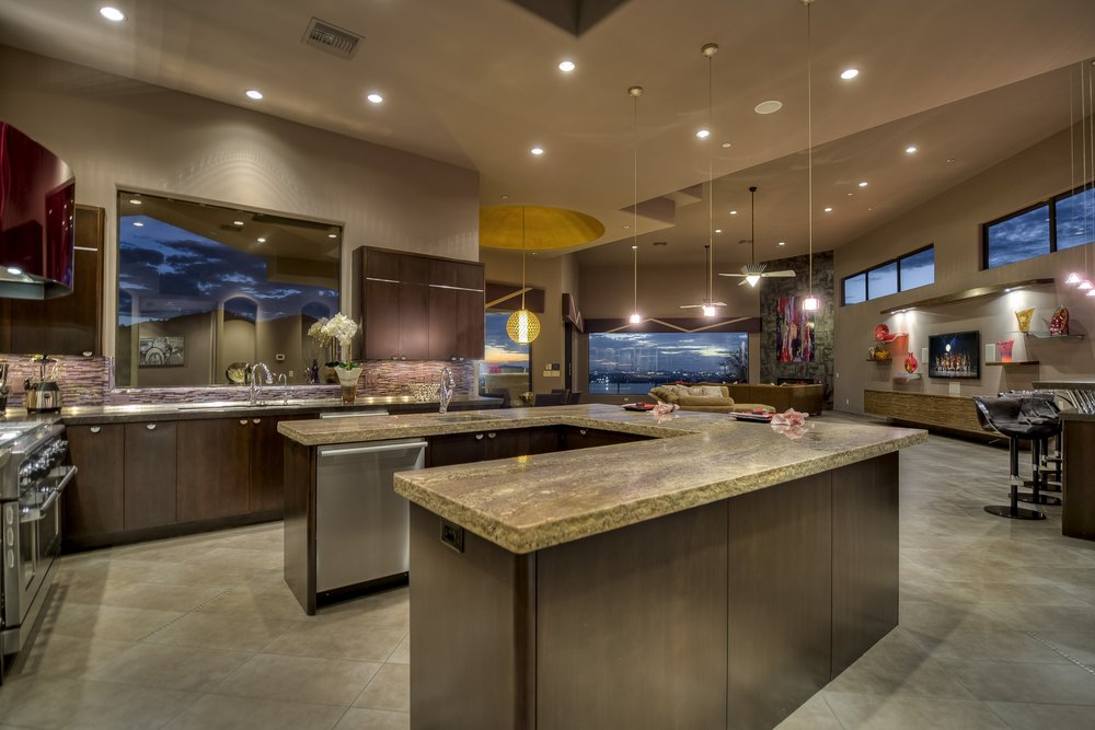 The Men's Residence has a stunning chef's style kitchen where meals are prepared and served family-style.