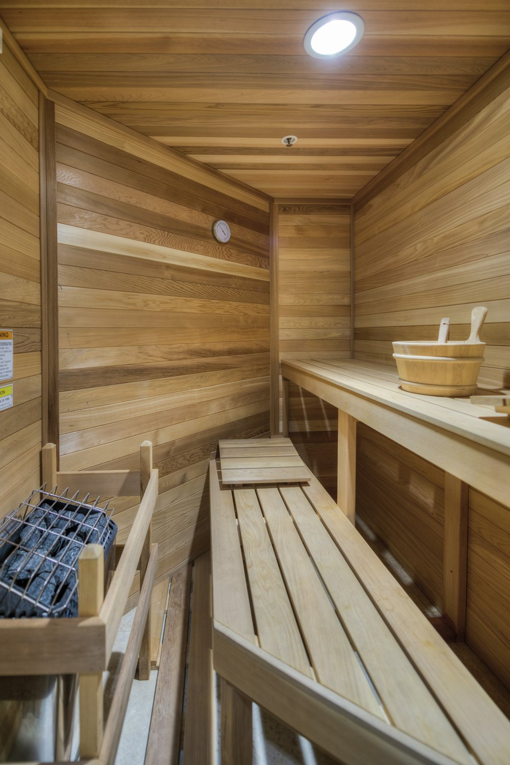 Our infra-red sauna is a great addition to a workout or just a great way to relax, unwind and meditate.