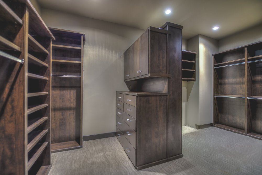 Huge walk in closets offer plenty of storage throughout your stay.