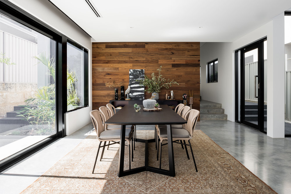 Como Residence by Studio Atelier - Contemporary dining room timber cladding.jpg