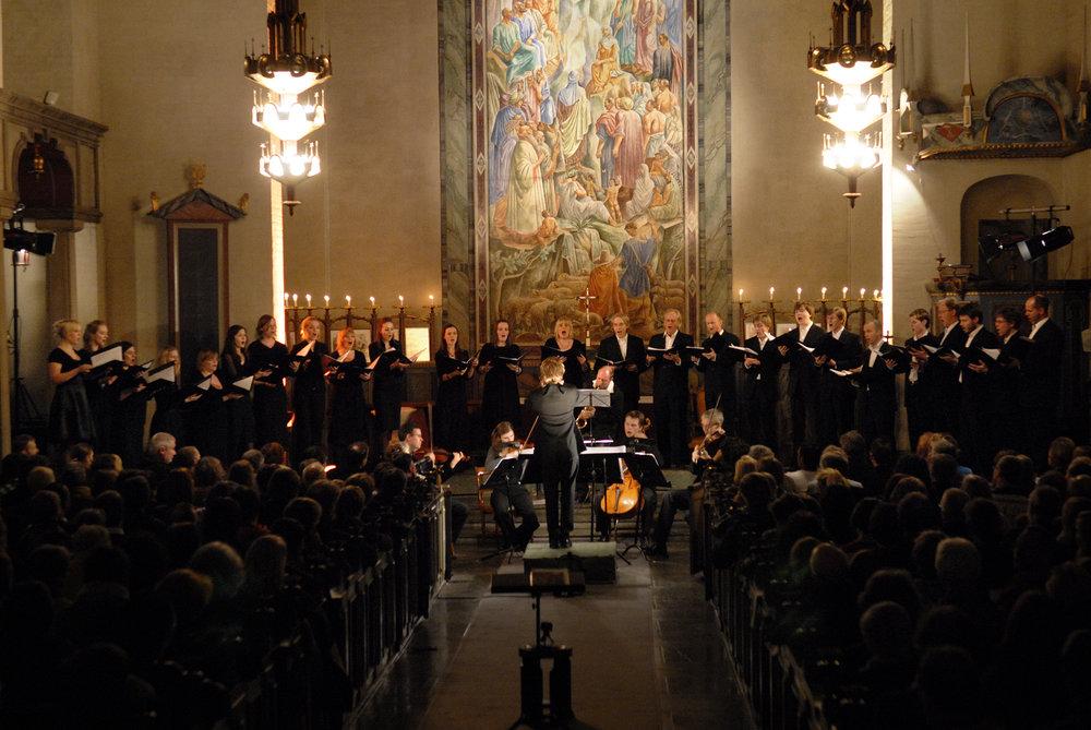 Oslo kammerkor, Oslo strykekvartett og dirigent Håkon D. Nystedt.jpg