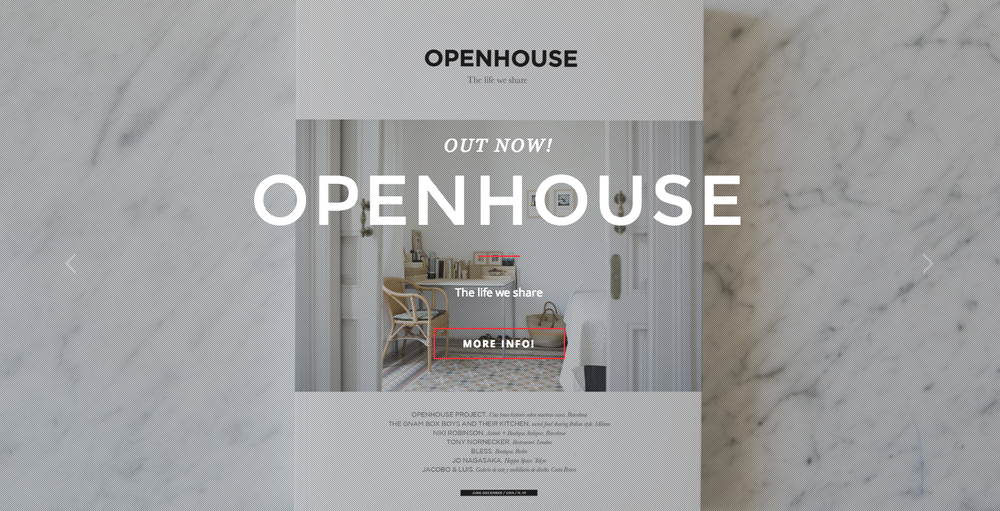 OPEN HOUSE MAGAZINE #ISSUE 01