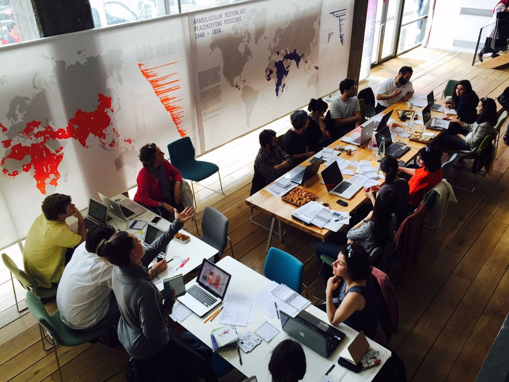 Writers meet-up at Studio X, Istanbul, 2015