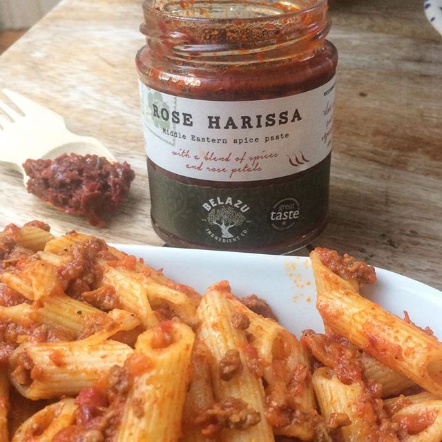 A dollop of Rose Harissa added a nice kick to my parent plate of bolognese last night! #easydinners #deliciouslyquick #foodacademy #certifiedorganic #lowsalt #lowsugar #totallynatural and now available in 5 Dublin SuperValu stores - Blackrock, Dalkey, Rathgar, Churchtown and Mount Merrion.