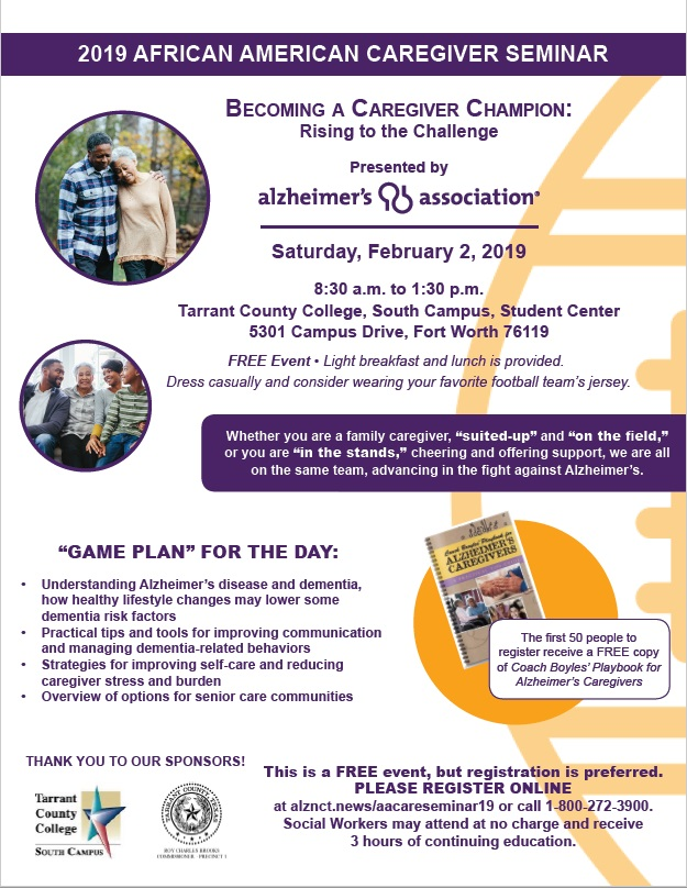 2019 African American Seminar Alzheimer's Association North Central Texas Chapter