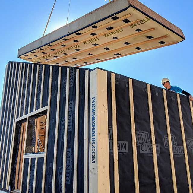 Sweet shot from our latest install!  #prefab #offsite #lowenergy #colorado #superinsulated #woodconstruction #holzbau