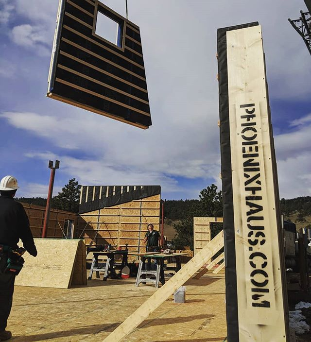 Prefab passive house in the mountains #prefab #offsite #lowenergy #passivehouse #colorado #rockymountains