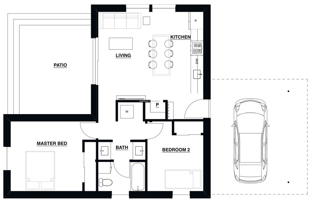 Small Haus Small 800 Floorplan