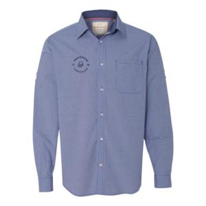 Blue Poplin Sleeve Shirt Badge Logo.png
