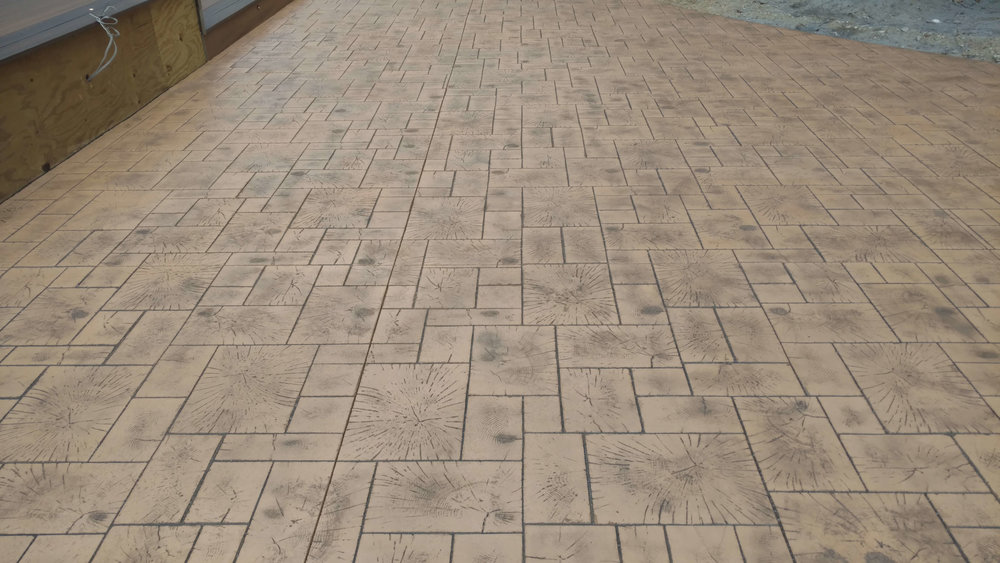 Wood Ashlar Pattern - Driftwood with Dark Gray Release