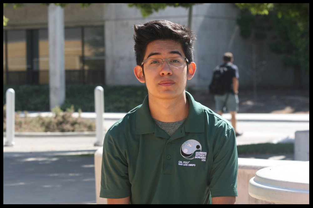 Michael Reyna - Treasurer    Grad 2021 - Mechanical Engineering   Michael Reyna is a second year Mechanical Engineer who joined EWB to find a group of people who share his goal of improving peoples' lives. He is a California native, born in Frenso. His favorite parts of EWB are hiking, beach bonfires, and camping trips with the rest of the team. In his spare time he enjoys hikes, visiting the beach, going stargazing, and playing board games. He is currently considering a career in global development or renewable energy.