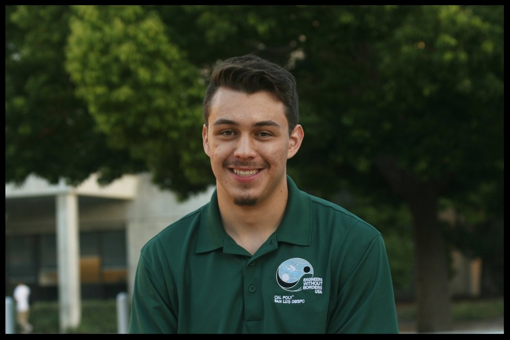 Chris Grabow - Media Coordinator    Grad 2021 - Civil Engineering   Chris is from Los Angeles, CA. He joined EWB to gain engineering experience while aiding less-fortunate communities around the world. Chris's favorite EWB memory is of the first Officer Board retreat last spring. Outside of EWB, Chris works as an intramural volleyball ref and enjoys producing music.