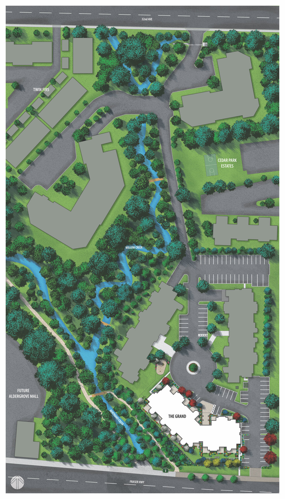 A New Mall for a New Aldergrove. - Theproposed Aldergrove Mall redevelopment is quietly nestled over approximately 10 acres backing onto Bertrand Creek.