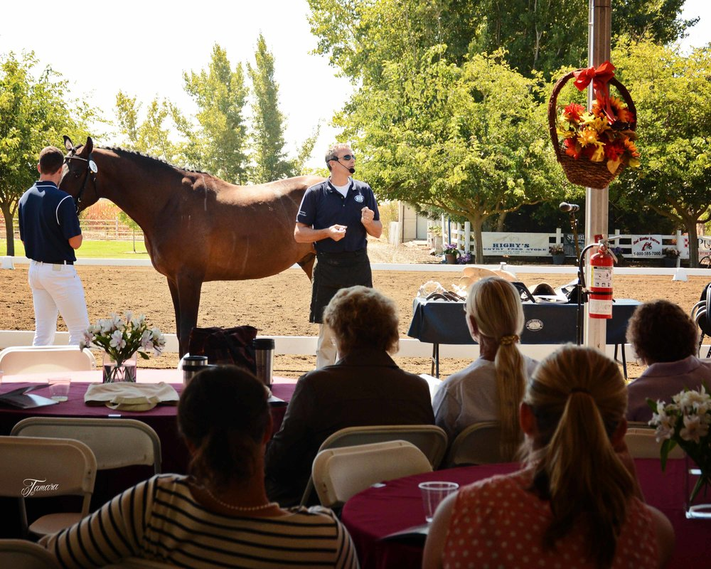 Jochen Schleese of Schleese Saddlery offered a lecture on saddle fitting at PSS University, an educational event hosted by the California Dressage Society's Sacramento Valley Chapter. Photo by Tamara with the Camera.
