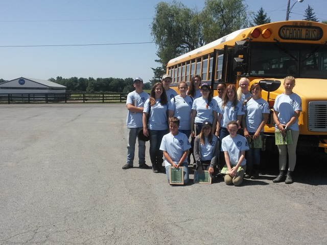 Youth visited a Standardbred nursery and veterinary clinic during the Harness Horse Youth Foundation's week-long Leadership Program in July 2014. Photo courtesy Harness Horse Youth Foundation.