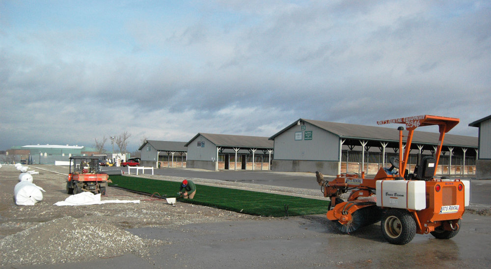 Work continues on the Kentucky Horse Park Foundation's All the Gold Dedicated Horse Path, much of which is expected to be completed by May 2014. Photo courtesy Kentucky Horse Park Foundation.