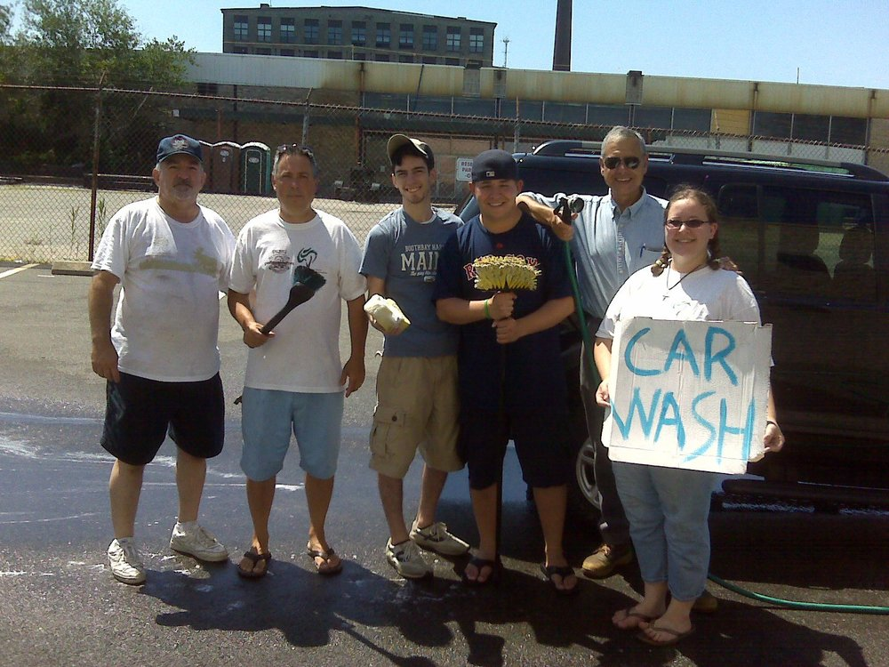 Happy to lend a hand at the Flint Neighborhood Association car wash!