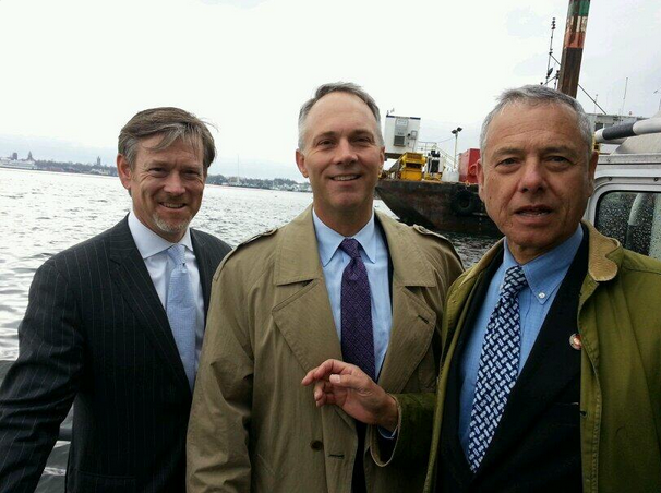 Joining Mayor Mitchell of New Bedford and Assistant Secretary of Commerce Matt Erskine on the New Bedford Harbor
