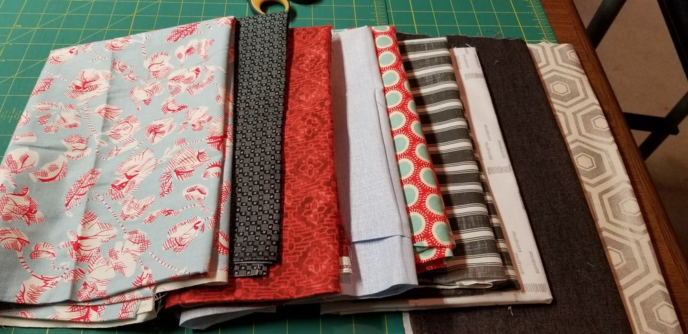 Angie from Kentucky - fabrics she'll be using for Project #1 — Nice, Angie!