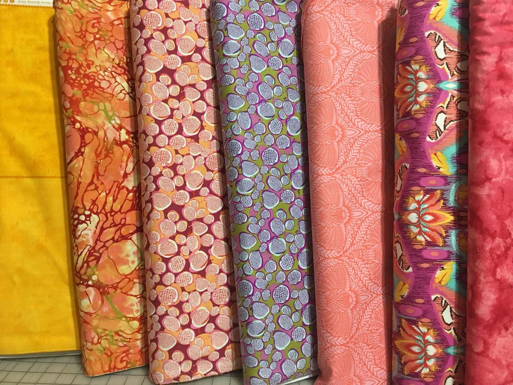 And here's my fabric selection - Dale