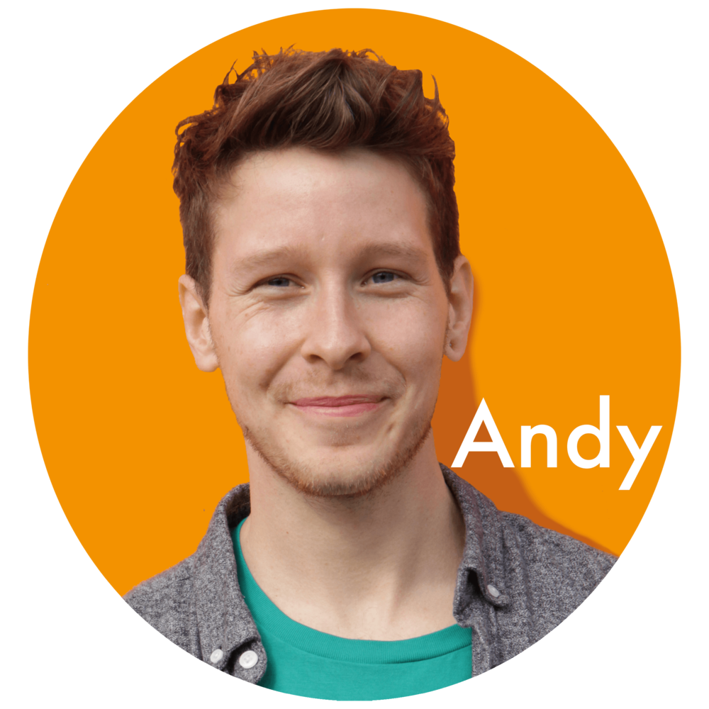 Andy   Bass playing Andy is an experienced project manager who is driven and ambitious.