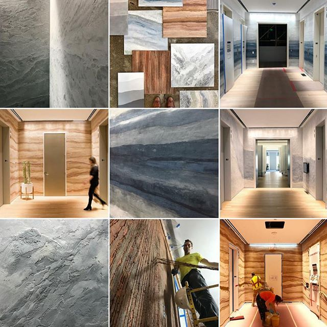 2018 was the Year of the Elevator Lobby for all of us @level_5_design. If 2018 was any indication of what he future holds, we are greatly looking forward to what will come in 2019. Thank you to all of you for the follows and all the likes! And many thanks to our dedicated crew of plasterers: @level_5_design, @judeswafford, @healyja, @bonitonito & @christophe_legall_scoville. . . . . .  #level_5_design #plaster #venetianplaster #limeplaster #japaneseplaster #cementplaster #cottonplaster #specialtyfinish #customfinish #decorativefinish #hawkandtrowel #contractor #plastercontractor #design #interiordesign #exteriordesign #keepcraftalive