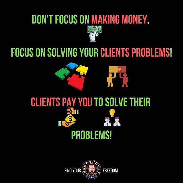 Don't focus on the money focus on the problem, people pay you to solve problems.  If the job is medial then the premium chargeable is going to be low.  Is the job is premium then you can charge a premium rate.  You get paid according to your value not what your worth.  #Madpositivity.tv #madpositivity #zerotoonemillion