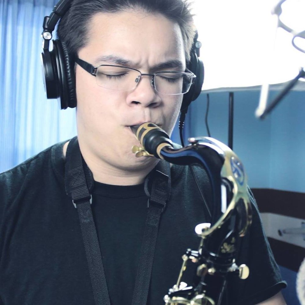 Carlos and his saxophone. A match made in heaven.