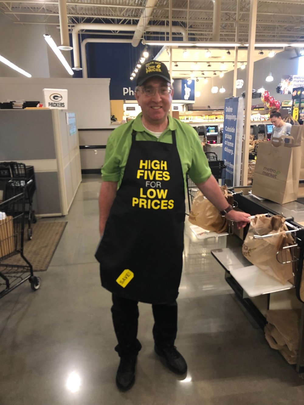Neil at his new job in Metro Market in Mequon, be sure to say hi when you see him.