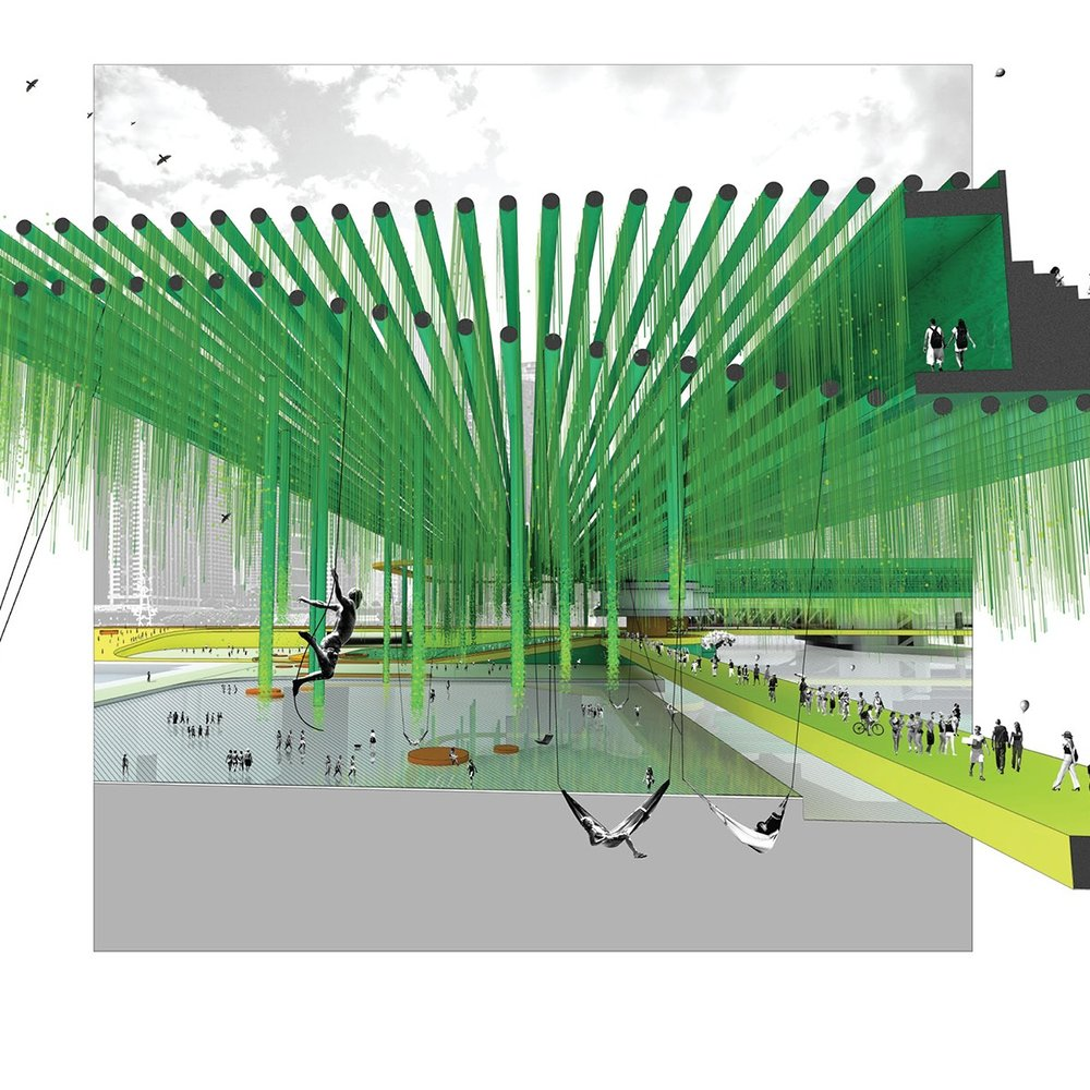 Chicago Relooped   Designed a speculative project looking at a new infrastructure in central Chicago.